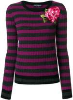 purple and pink striped sweater - ShopStyle