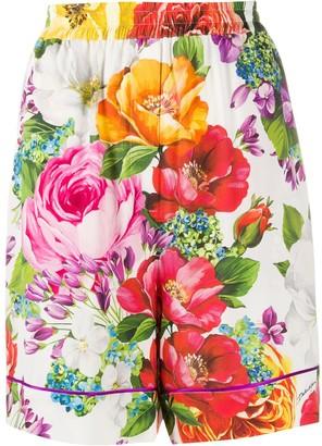 Dolce & Gabbana Floral Print Knee-Length Shorts