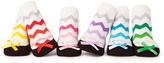 Trumpette Green & Pink Chevron Mikyla's Six-Pair Socks Set