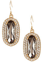 Natasha Accessories Crystal Oval Drop Earrings