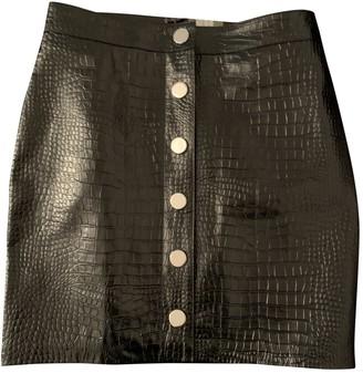 AllSaints Black Patent leather Skirt for Women