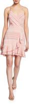 Parker Jay Striped Cotton Flounce Short Dress