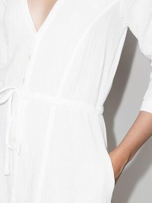HONORINE Georgia V-neck midi dress