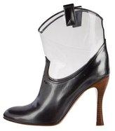 Marc Jacobs Metallic PVC Ankle Boots