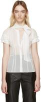 Haider Ackermann White Silk Conium Shirt