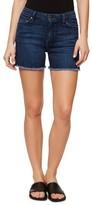 Sanctuary Women's Frayed Hem Side Slit Denim Shorts