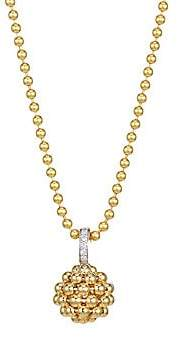 Maria Canale Women's Flapper 18K Yellow Gold & Diamond Ball Pendant Necklace