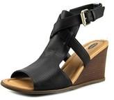 Dr. Scholl's Celine Open Toe Synthetic Wedge Heel.