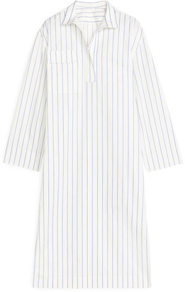Arket Poplin Belted Dress