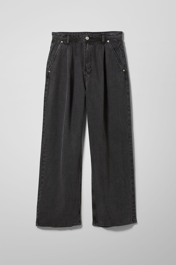 Thumbnail for your product : Weekday Baden Denim Trousers - Black