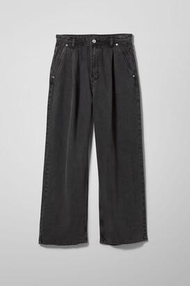 Weekday Baden Denim Trousers - Black