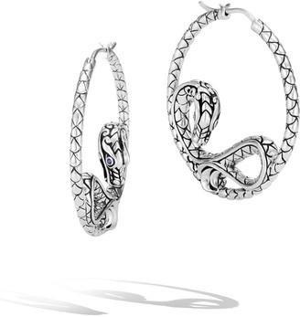 John Hardy Legends Naga Silver Hoop Earrings