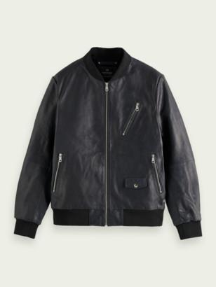 Scotch & Soda Leather bomber jacket | Men
