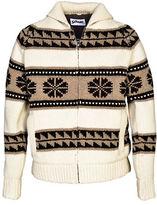Schott NYC Cowichan Sherpa Lined Sweater Jacket
