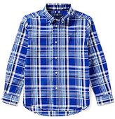Ralph Lauren Big Boys 8-20 Plaid Long-Sleeve Poplin Shirt