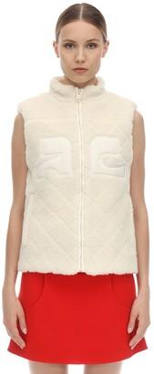 Courreges Short Faux Shearling Vest