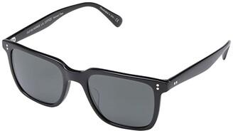 Oliver Peoples Lachman Sun (Black/Midnight Express Polarized) Fashion Sunglasses