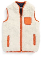 Splendid Toddler Boy's Reversible Faux Shearling Vest