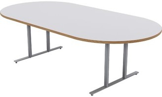 """Oval Conference Table Baltix Size: 30"""" H x 96"""" L x 48"""" W"""