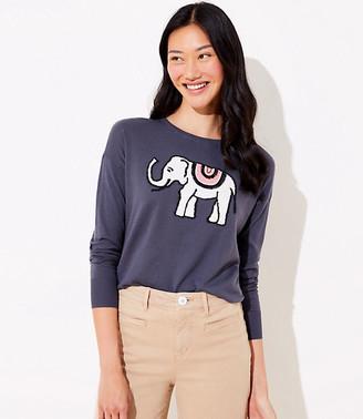 LOFT Elephant Ballet Neck Sweater