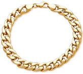 Macy's Men's Heavy Curb Link Bracelet in 10k Gold