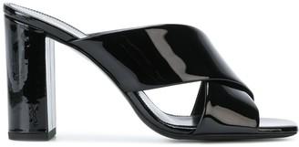 Saint Laurent LouLou 95mm crossover sandals