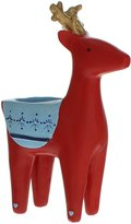 FESTIVE PRODUCTIONS 713233 17cm Polyresin Nordic Deer Tea Light Holder