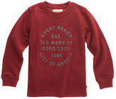 Lucky Brand Ruby Wine 'Good Luck' Sweatshirt - Toddler & Boys