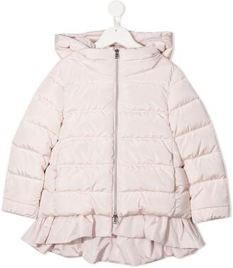 Herno Ruffle-Trim Padded Jacket