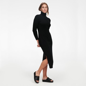 Naadam Cashmere Turtleneck Dress with Slits