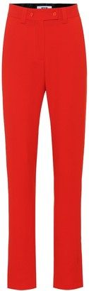 MSGM High-rise crepe pants