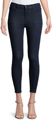 J Brand Alana High-Rise Cropped Super-Skinny Jeans