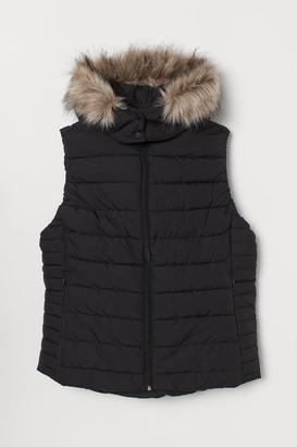 H&M H&M+ Padded Vest - Black