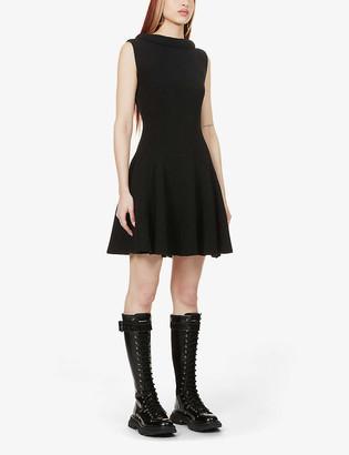 Alexander McQueen Sleeveless wool mini dress