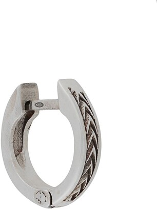 Emanuele Bicocchi Arrows textured hoop earring