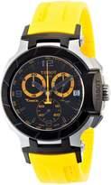 Tissot Men's T0484172705703 T-Race Quartz Yellow Strap Chronograph Dial Watch