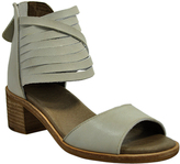 Gee WaWa Off-White Sofia Leather Sandal