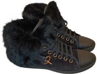 Louis Vuitton Black Fur Trainers