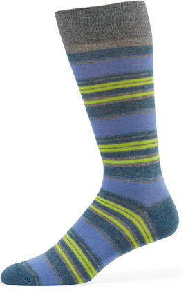 Neiman Marcus Striped Cotton-Blend Socks