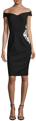 JS Collections Off-The-Shoulder Sheath Dress