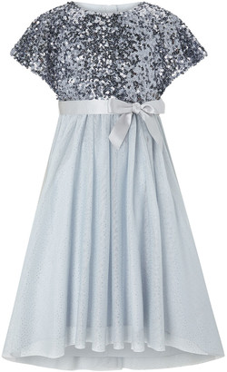 Monsoon Truth Sequin Sparkle Maxi Dress Blue