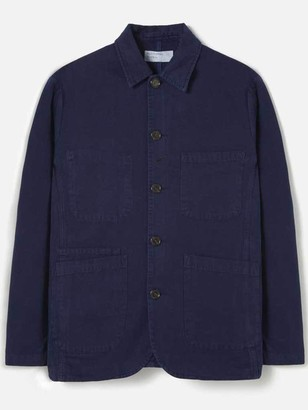 Universal Works Canvas Bakers Jacket In Navy - M