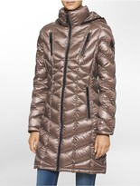 Calvin Klein Long Packable Down Hooded Jacket