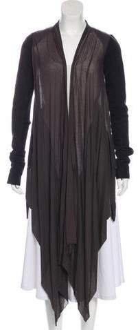 Rick Owens Suede Asymmetrical Coat