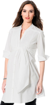A Pea in the Pod Belted Maternity Shirt Dress