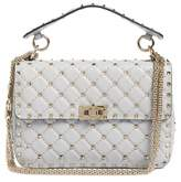 Valentino Garavani Rockstud Spike Medium Shoulder Bag - White