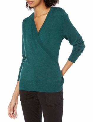 Daily Ritual Women's Standard Ultra-Soft Wrap Ballet Sweater