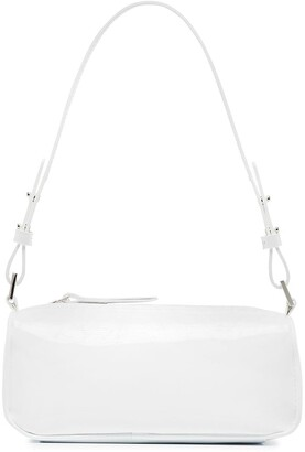 BY FAR Eve patent-leather shoulder bag