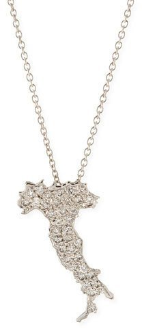 Roberto Coin 18k White Gold & Diamond Boot of Italy Necklace