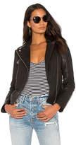 Muu Baa Muubaa Pebble Moto Jacket in Black. - size Eur 32/US 0 (also in Eur 34/US 2,Eur 36/US 4,Eur 40/US 8)